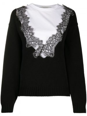Philosophy lace front panelled jumper