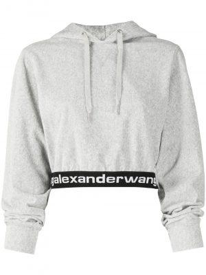 Alexander Wang logo cropped hoodie