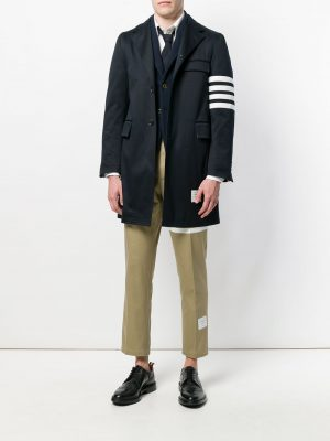 Thom Browne unconstructed 4-Bar stripe long coat