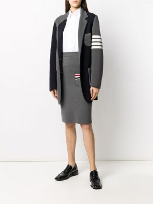Thom Browne striped bow pocket pencil skirt