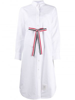 Thom Browne grosgrain belt Oxford shirt dress