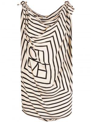 Toteme cowl-neck draped silk top