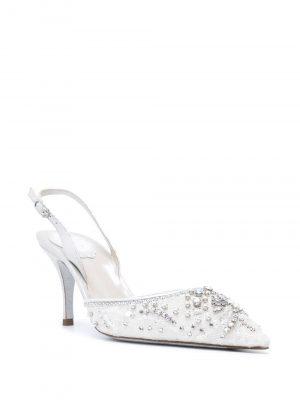 Rene Caovilla crystal-embellishment pointed-toe pumps
