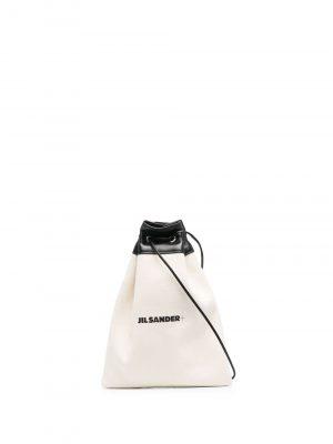 Jil Sander logo-print crossbody bag