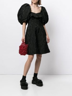 Simone Rocha jacquard puff-sleeve dress