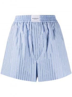 Alexander Wang crystal hotfix shorts