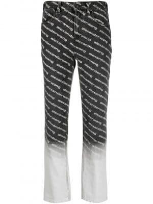 Alexander Wang logo bleach jeans