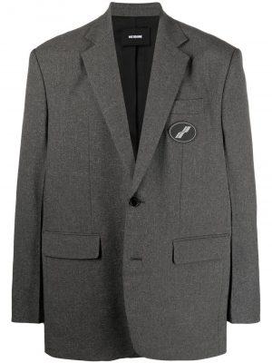 We11Done notched-lapels logo blazer
