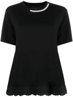 Simone Rocha embroidered-hemT-shirt