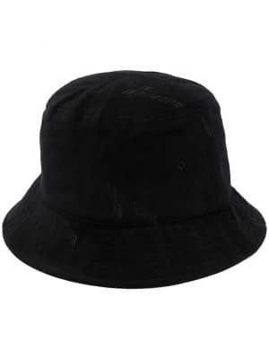 We11Done logo plaque bucket hat