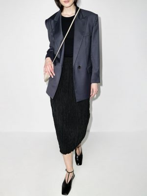 Toteme crinkled-effect midi skirt
