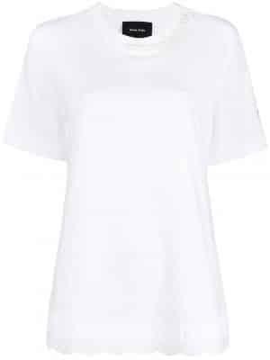 Simone Rocha embroidered-hem T-shirt