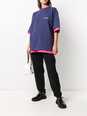 We11Done colour blocked reversible T-shirt