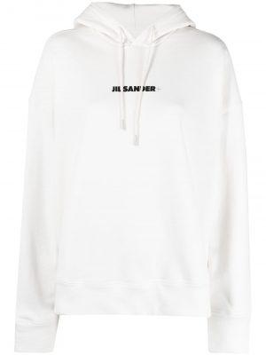 Jil Sander logo-print hoodie