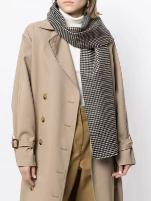 Toteme houndstooth print scarf