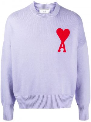 AMI Paris logo patch jumper