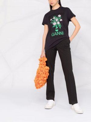 Ganni floral-print T-shirt