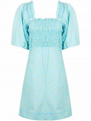 GANNI floral-print mini dress