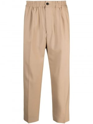 AMI Paris elasticated cropped trousers