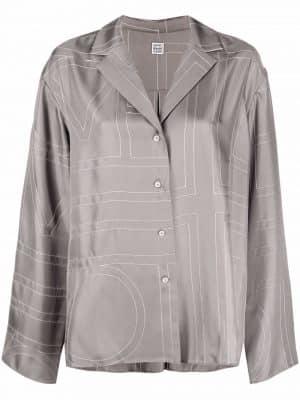 Toteme monogram silk shirt