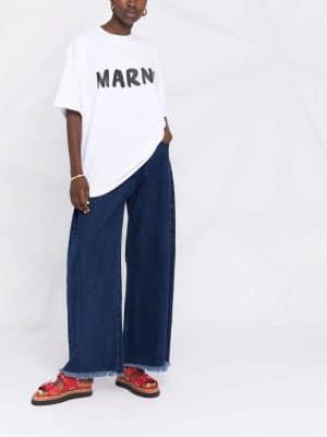 Marni logo-print crew-neck T-shirt
