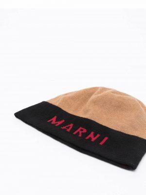 Marni Hazelnut Virgin Wool Beanie