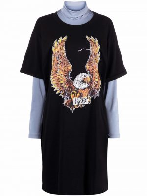 MM6 layered T-shirt dress