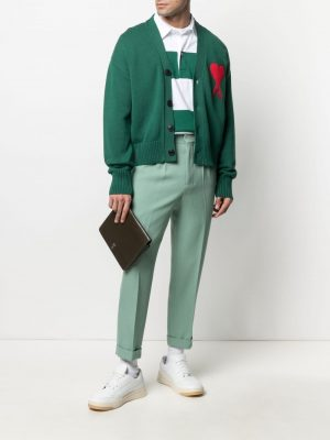 AMI PARIS Ami de Coeur oversizecardigan Green
