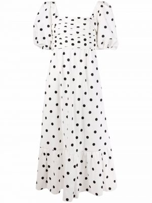 Self-portrait polka-dot print midi dress