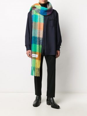 Acne Studios large check scarf