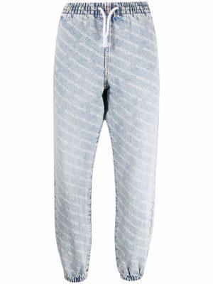 Alexander Wang drawstring-fastening denim trousers