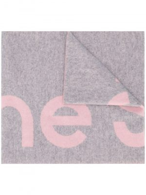 Acne studios oversized logo intarsiascarf