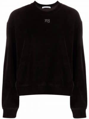 Alexander Wang.T Crewneck sweatshirt with hotfix logo