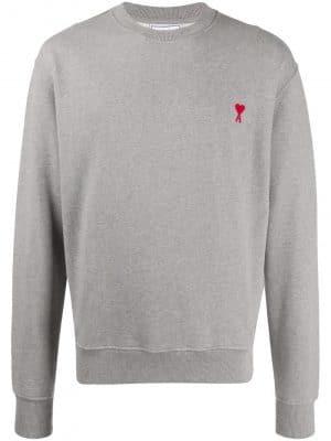 AMI PARIS Ami de Coeur cotton Sweatshirt Grey