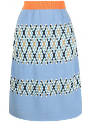 Marni Argyle-intarsia knitted skirt