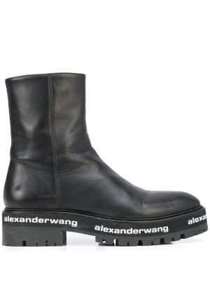 Alexander Wang Sanford logo-detail boots