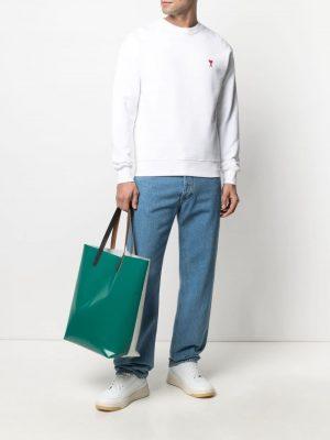 AMI PARIS Ami de Coeur cotton Sweatshirt White
