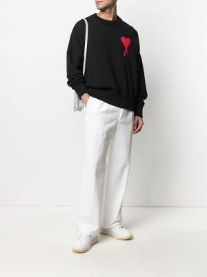 AMI PARIS Ami de Coeur crew-neck jumper black