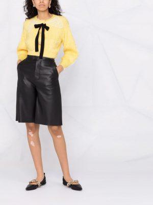 Self-portrait lace-collar cropped cardigan