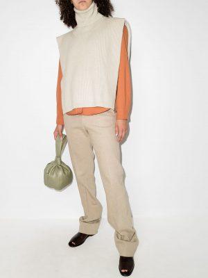 Toteme roll-neck ribbed-knit bib