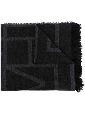 Toteme fine knit monogram logo scarf