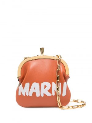 Marni logo print coin purse