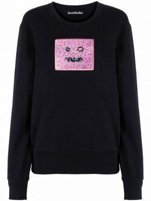 Acne studios face-patch cotton sweatshirt