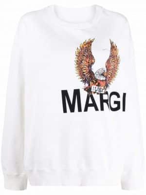 MM6 logo-print sweatshirt