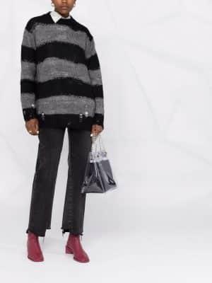 Acne Studios distressed striped jumper