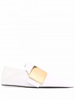 Jil Sander point-toe buckled loafers