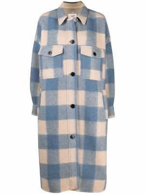 Isabel Marant Etoile Fontizi checked single-breasted coat