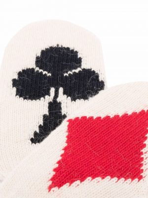 MM6 diamonds and clubs intarsia mittens