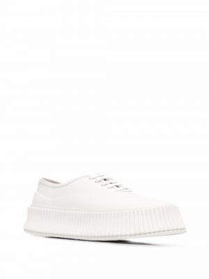 Jil Sander flatform leather sneakers