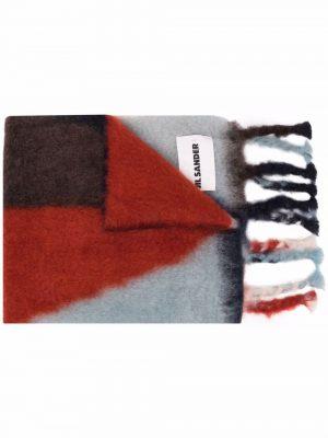 Jil Sander colour-block mohair-blend scarf
